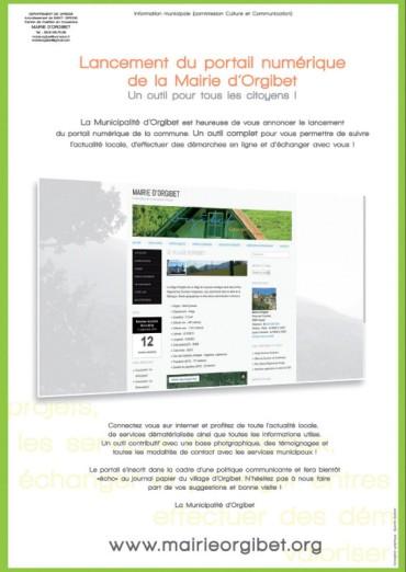 affiche portail web